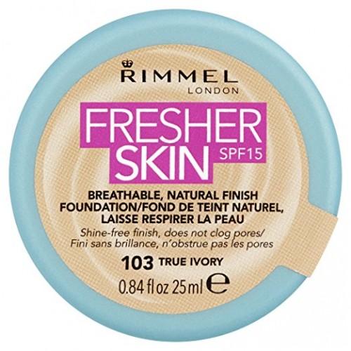 Fond de ten Rimmel Fresher Skin, 103 - True Ivory, 25 ml
