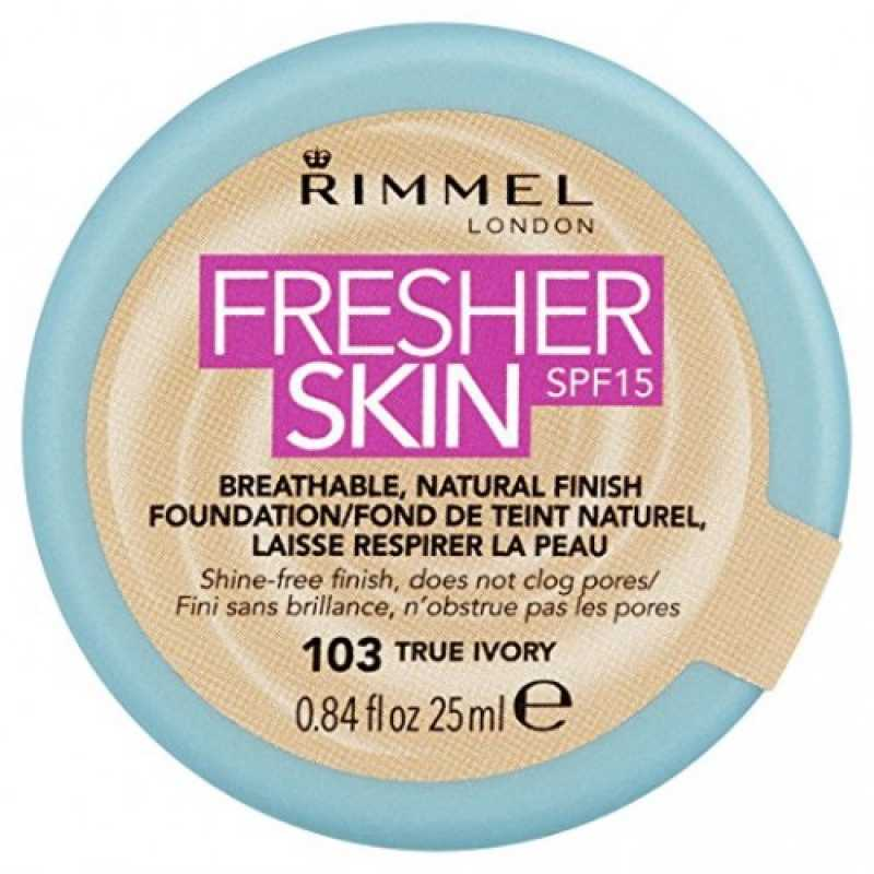 Fond de ten Rimmel Fresher Skin, 103 - True Ivory, 25 ml