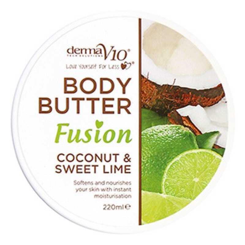 Unt De Corp Fusion - Coconut & Sweet Lime, Derma V10, 220 ml