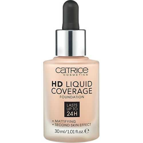 Fond De Ten HD Liquid Coverage, 10 Light Beige, Catrice, 30 ml