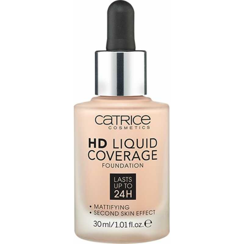 Fond De Ten HD Liquid Coverage, 10 Light Beige, Catrice, 30 ml