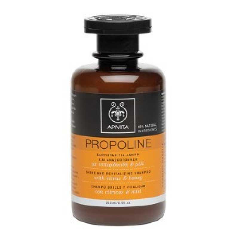 Sampon PROPOLINE pentru stralucire si revitalizare cu Miere, Apivita, 250 ml