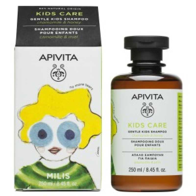 Sampon pentru copii cu Musetel si Miere, Apivita, 250 ml