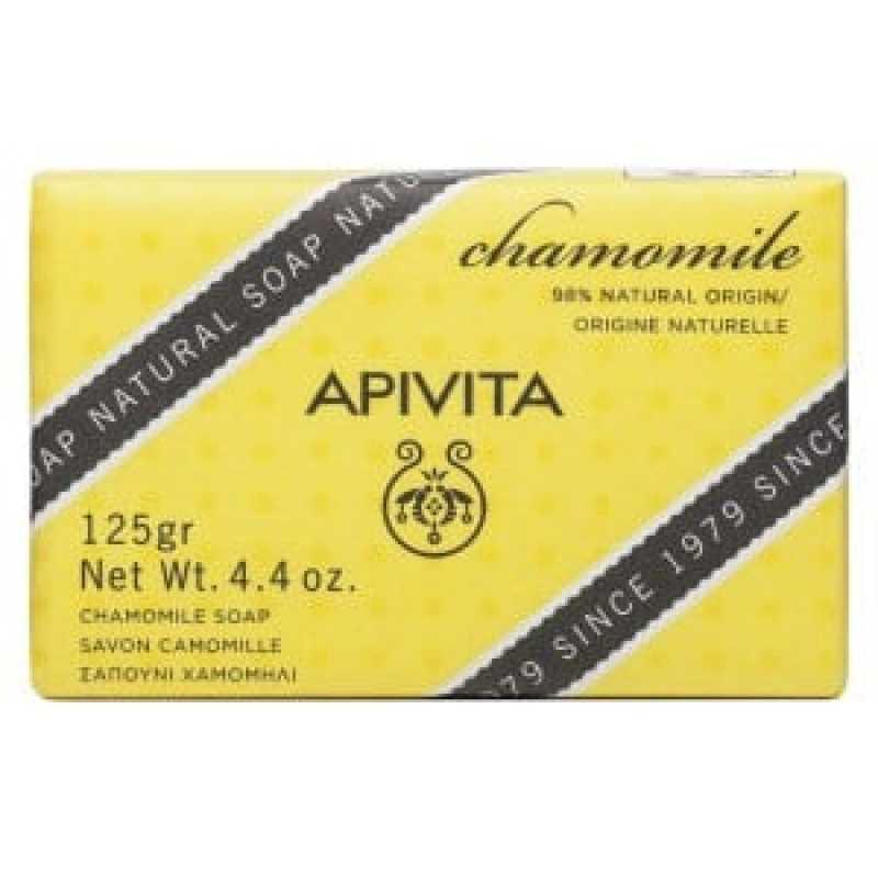 Sapun natural cu musetel si lavanda, Apivita, 125g