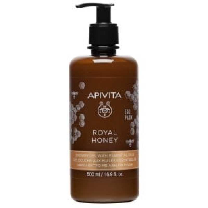 Gel de dus Royal Honey cu miere Ecopack, Apivita, 500 ml