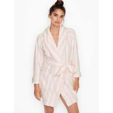 Halat, Victoria's Secret, Logo Short Cozy, Pink Stripe, Marime M