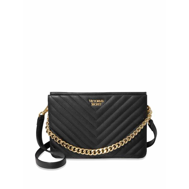 Geanta, Pebbled Crossbody, Victoria's Secret, Black