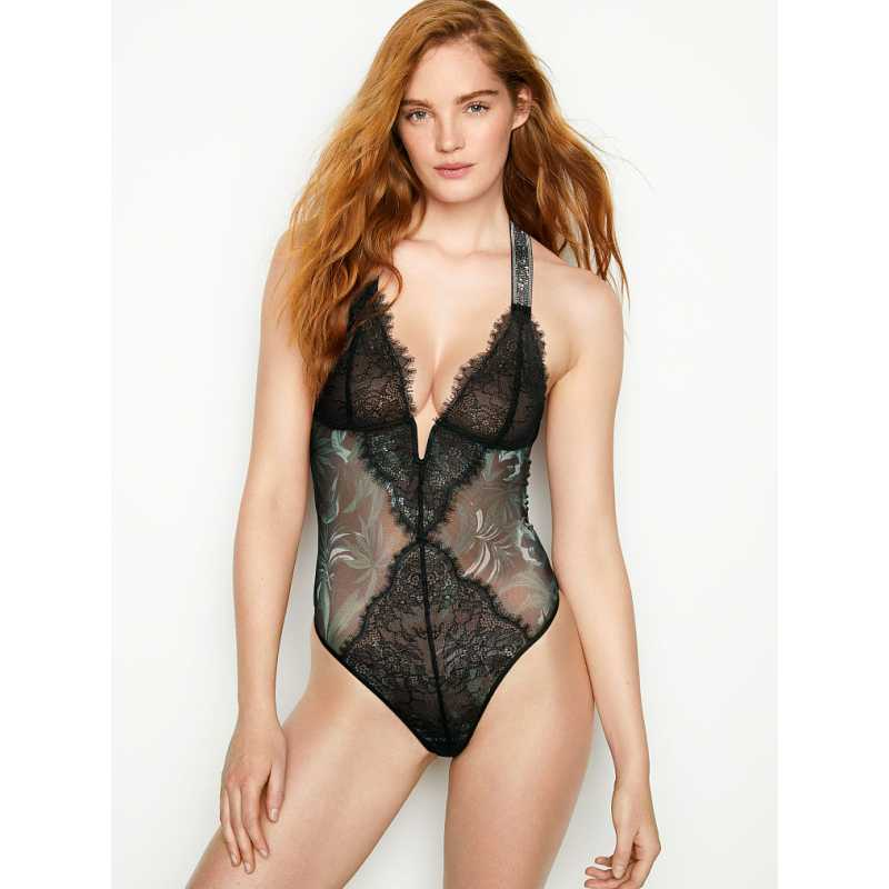 Costum Sexy, Victoria's Secret, Shine Strap V-Wire Teddy, Marime S