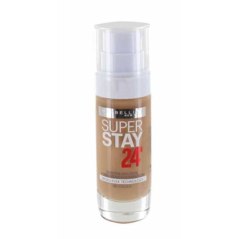 Fond de ten Maybelline NY SUPERSTAY 24H, rezistent la transfer, 032 Golden, 30 ml