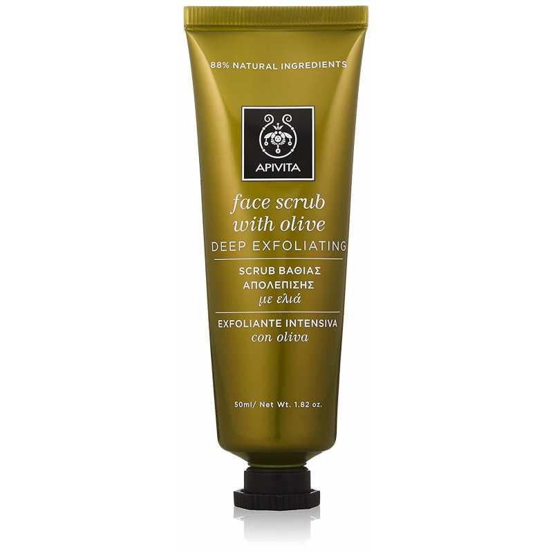 Scrub pentru ten, Face Scrub With Olive, Apivita, 50 ml