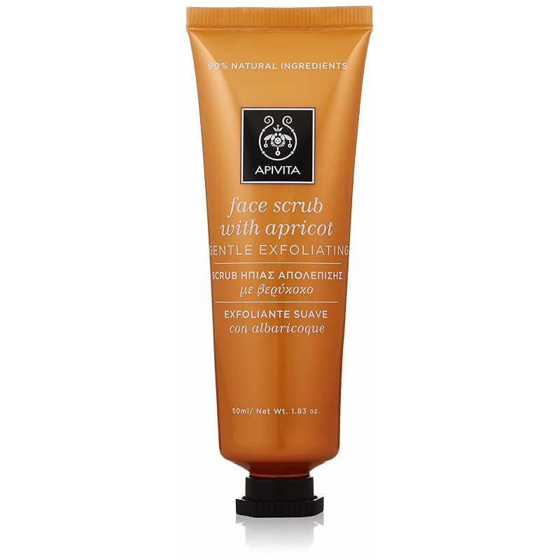Scrub pentru ten, Face Scrub With Apricot, Apivita, 50 ml
