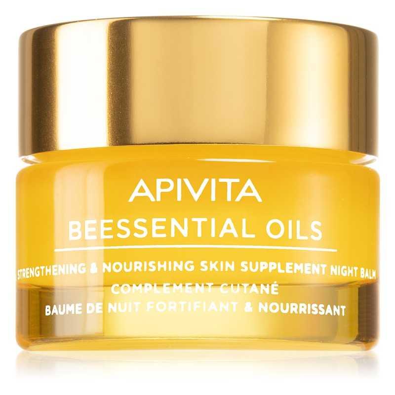 Balsam facial de noapte nutritie si hidratare, Beessential Oils, Apivita, 15 ml