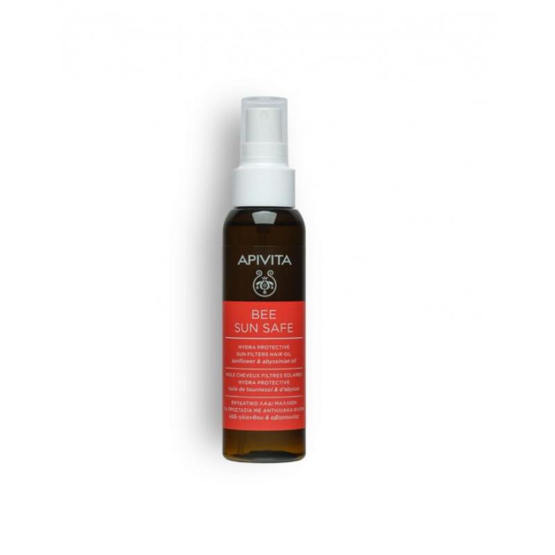 Ulei de par, Hydra Protective Sun Filters Hair Oil, APivita, 100 ml