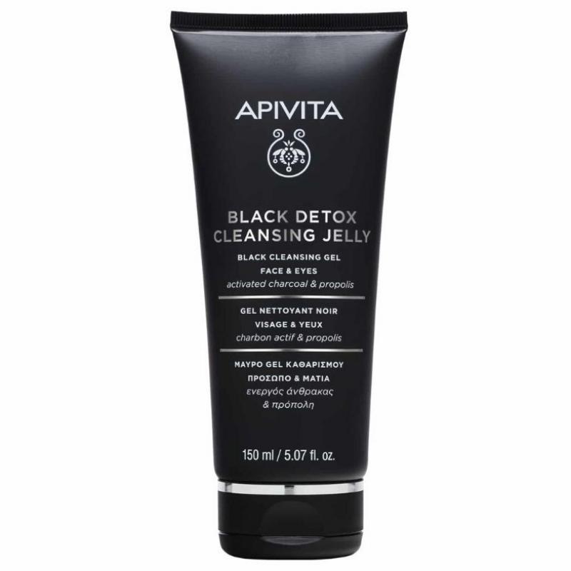 Gel de curatare pentru fata si ochi, Black Detox, Apivita, 150 ml
