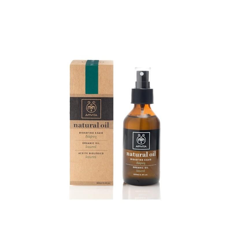Ulei natural de par cu dafin, Organic Laurel Oil, Apivita, 100 ml
