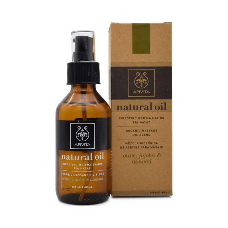 Ulei natural de masaj, Organic Massage Oil Blend, Apivita, 100ml