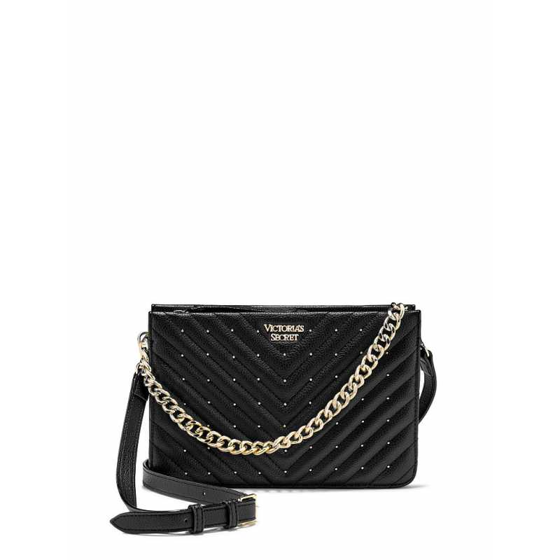 Geanta, Studded Crossbody, Victoria's Secret, Black