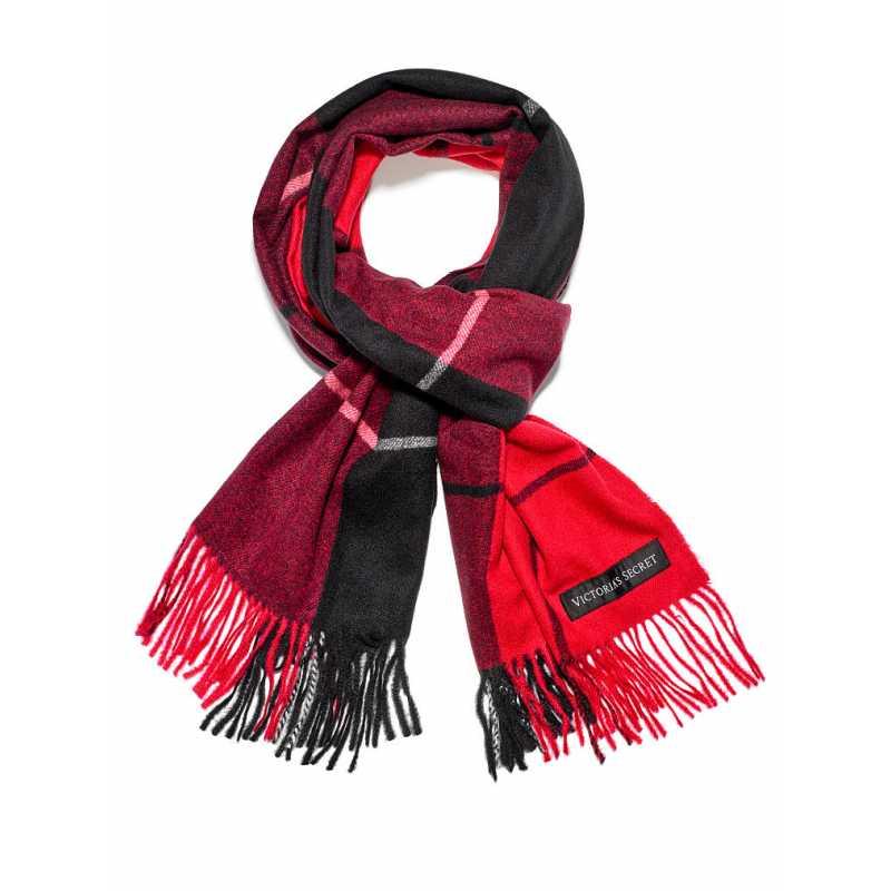 Esarfa, Plush, Plaid Red Black, Victoria's Secret