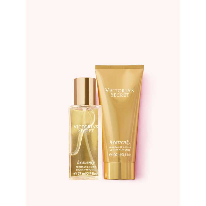 Set Cadou Victoria Secret, Heavenly Gift Set, Spray corp 75 ml + Body Lotion 100 ml
