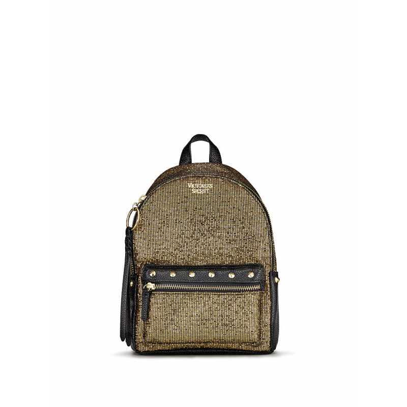 Rucsac, Victoria's Secret, Backpack Sparkle Gold