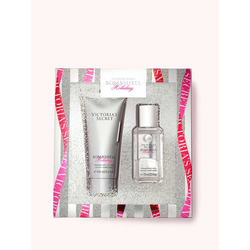 Set Cadou Victoria Secret, Bombshell Holiday Gift Set, Spray corp 75 ml + Body Lotion 100 ml