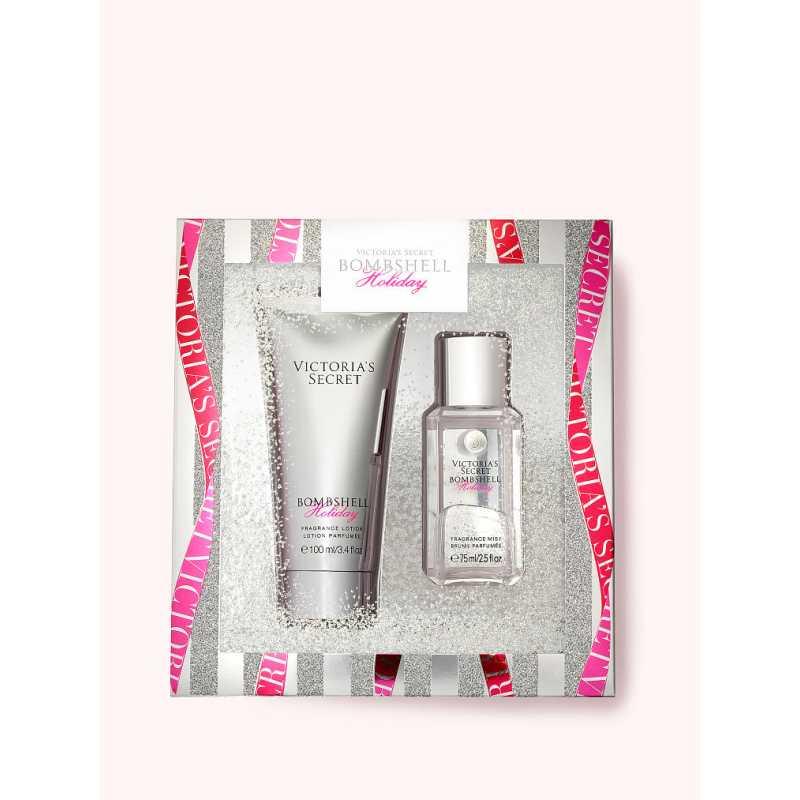 Set Cadou Victoria Secret, Bombshell Holiday Gift Set, Spray corp 75 ml + Body Lotion 100 ml
