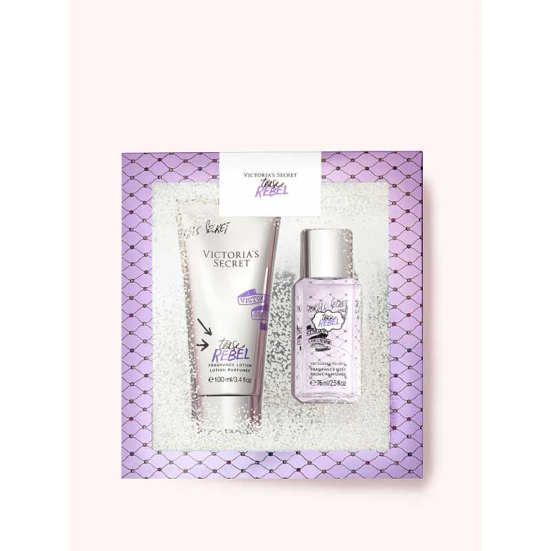 Set Cadou Victoria Secret, Tease Rebel Gift Set, Spray corp 75 ml + Body Lotion 100 ml
