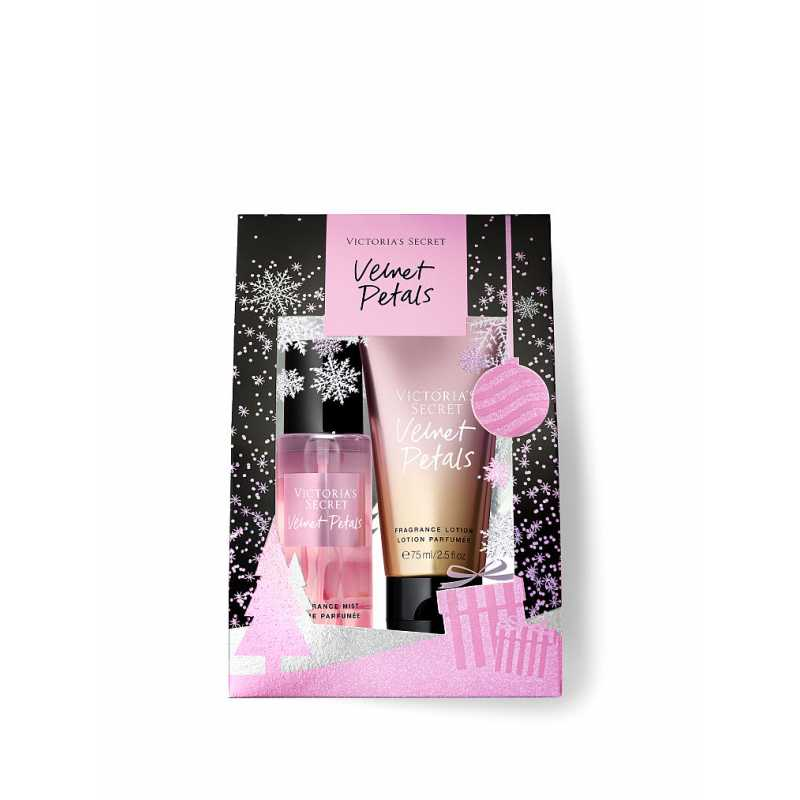 Set Cadou Victoria Secret, Velvet Petals Gift Set, Spray corp 75 ml + Body Lotion 75 ml