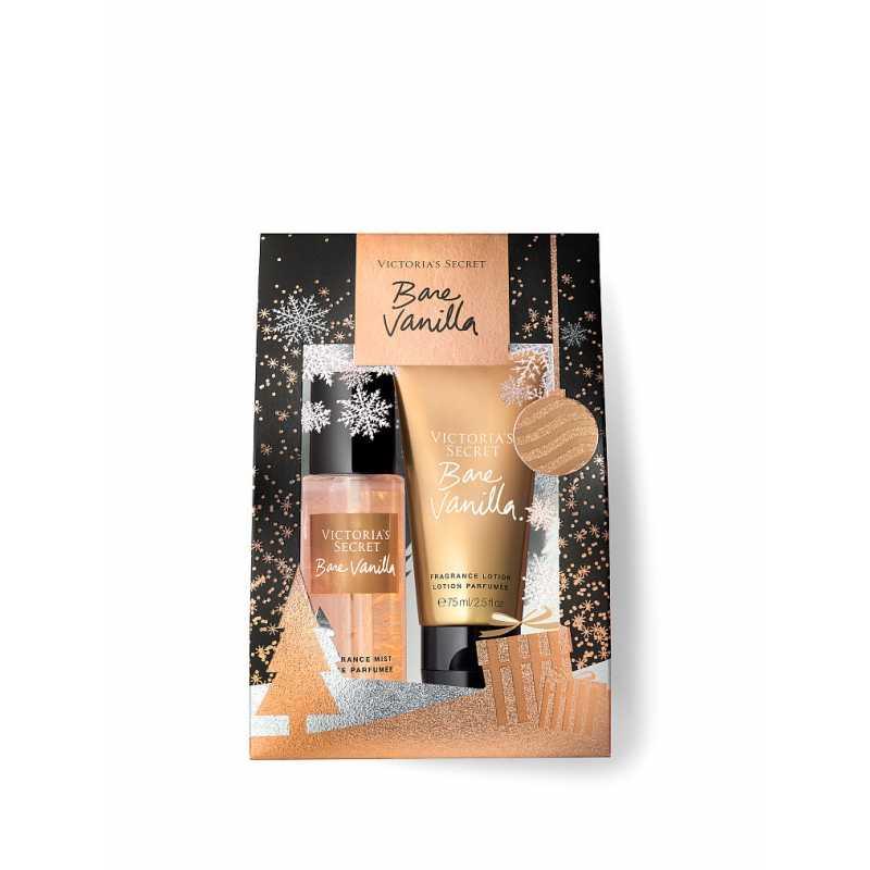 Set Cadou Victoria Secret, Bare Vanilla Gift Set, Spray corp 75 ml + Body Lotion 75 ml