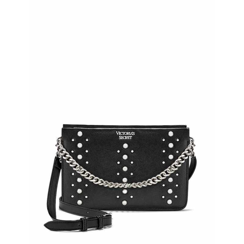 Geanta, Stud Crossbody, Victoria's Secret, Black