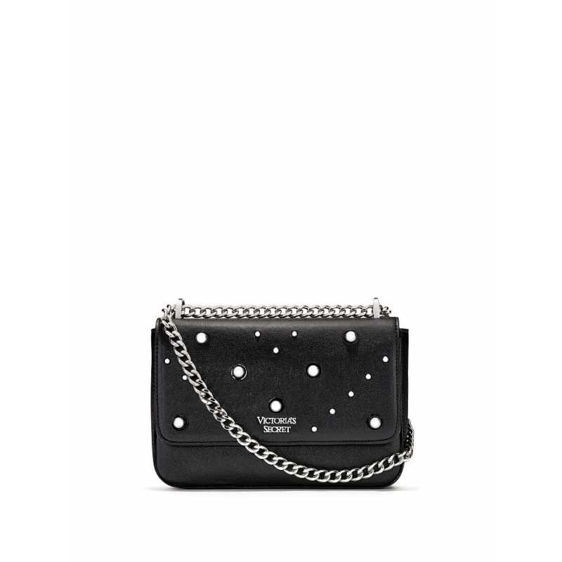Geanta, Stud Shoulder, Victoria's Secret, Black