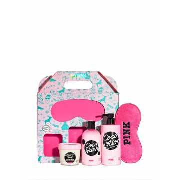 Set Cadou Victoria Secret, BestSelf Box, Body Wash 355 ml + Body Lotion 414 ml + Masca de fata 113g