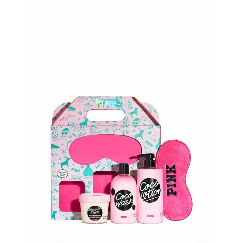 Set Cadou Victoria Secret, BestSelf Box, Body Wash 355 ml + Body Lotion 414 ml + Masca de fata 113g