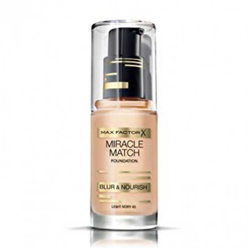 Fond de ten Max Factor Miracle Match 40 Light Ivory, 30 ml