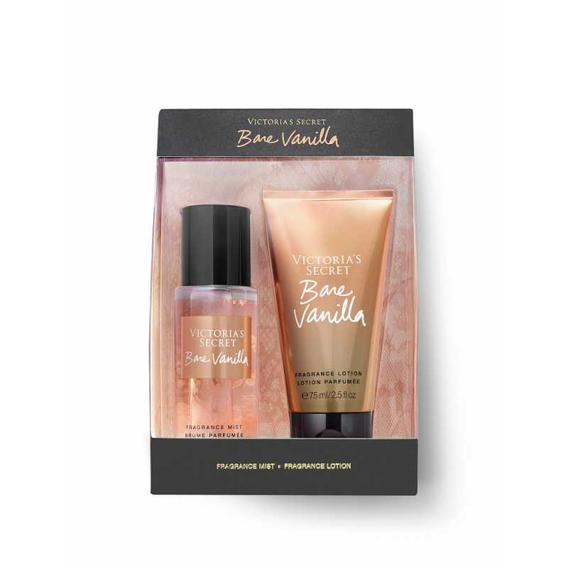 Set Cadou Victoria Secret, Bare Vanilla Gift Set, Spray corp 75 ml + Body Lotion 75 ml