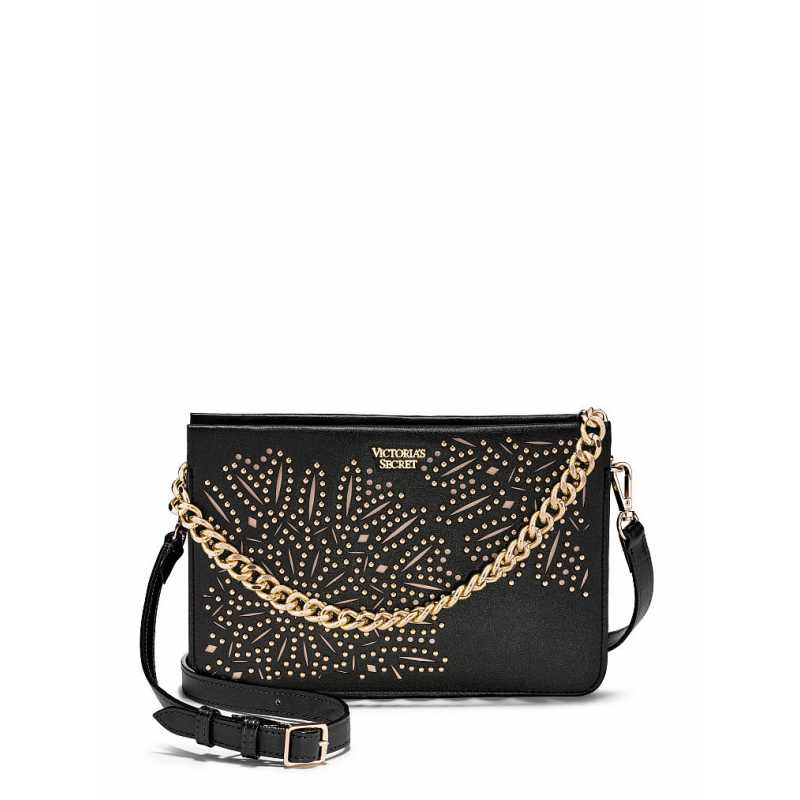 Geanta, Floral Crossbody, Victoria's Secret, Black