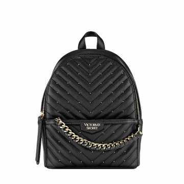 Rucsac, Victoria's Secret, Backpack Black Pebbles