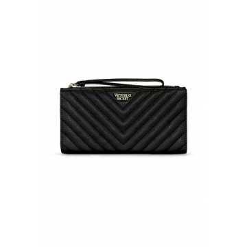 Portofel, Victoria's Secret, Slim Wristlet V-Quilt, Black