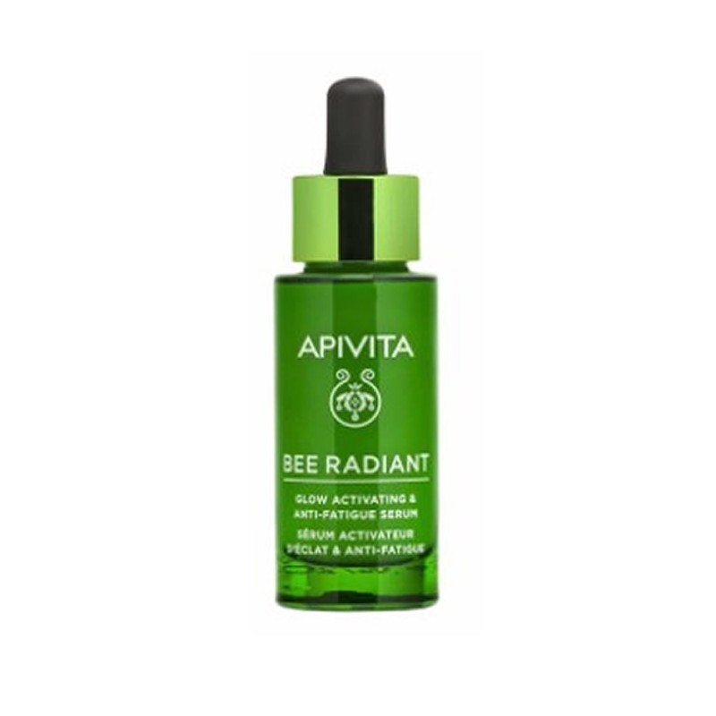 Ser Facial, Glow Activating impotriva imbatranirii pielii cu Bujor alb si Propolis Bee Radiant, Apivita, 30 ml