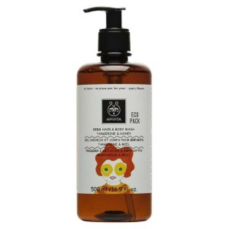 Hair & Body Wash cu miere pentru copii, Apivita, 500ml