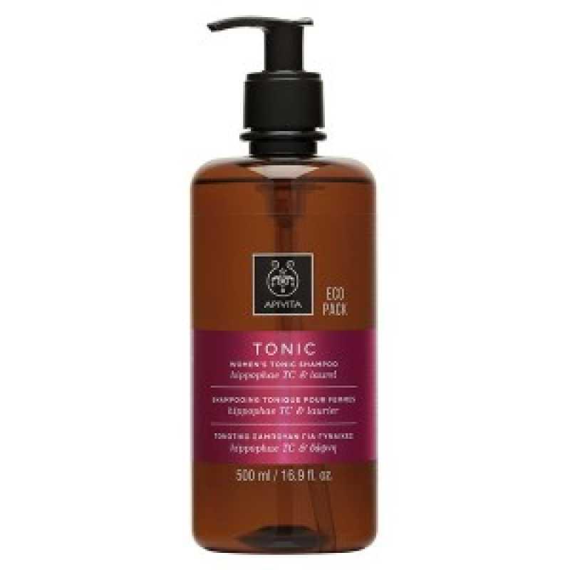 Sampon TONIC Ecopack pentru femei, Apivita, 500 ml