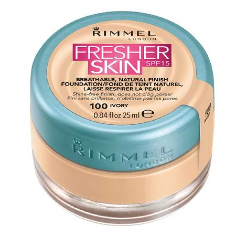 Fond de ten Rimmel Fresher Skin, 100 - Ivory, 25 ml