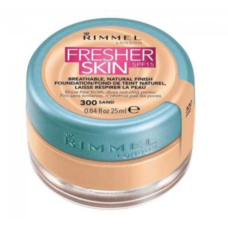 Fond de ten Rimmel Fresher Skin, 300 - Sand, 25 ml
