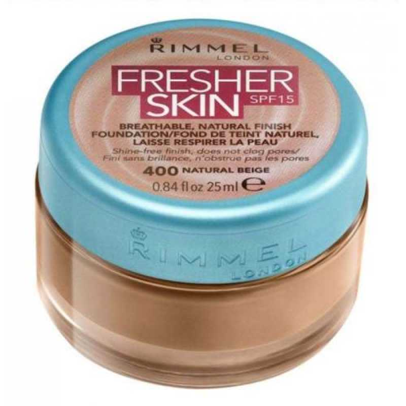 Fond de ten Rimmel Fresher Skin, 400 - Natural Beige, 25 ml