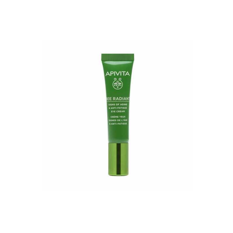 Crema antirid pentru conturul ochilor cu Bujor alb si Propolis Bee Radiant, Apivita, 15 ml